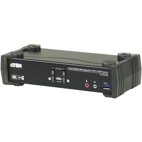 ATEN 2-Port USB 3.1 Gen 1 4K DisplayPort Multi-Stream-Transport KVMP Switch