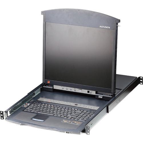 """ATEN KL1516AIMUKIT 16-Port Cat 5 Dual Rail 17"""" LCD KVM Switch Kit"""