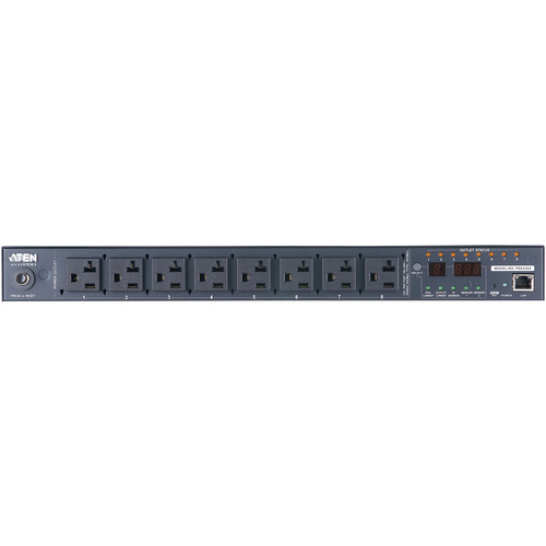 ATEN PE6208A 8-Outlet 20A/12A Power Distribution Unit (NEMA)