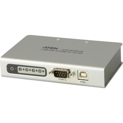 ATEN UC2324 4-Port USB to Serial RS-232 Hub