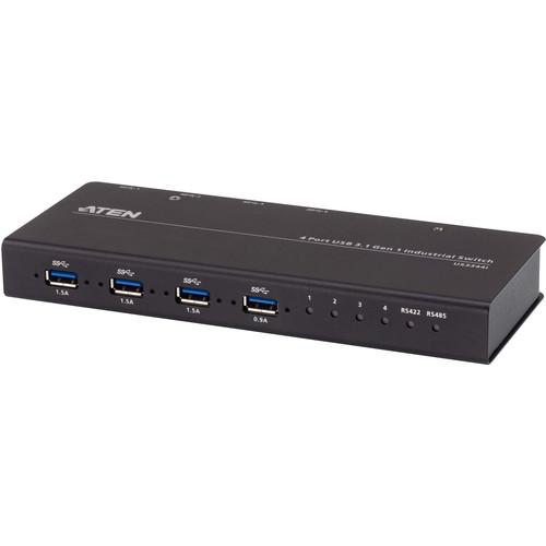ATEN 4 x 4 USB 3.1 Gen-1 Industrial Hub Switch