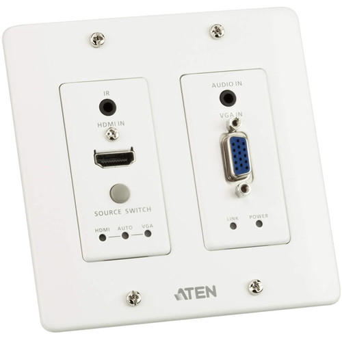 ATEN HDMI & VGA HDBaseT Transmitter with US Wall Plate