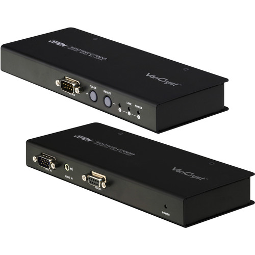 ATEN VE500QKIT A/V Over Cat5 Transmitter and Receiver with Deskew Bundle