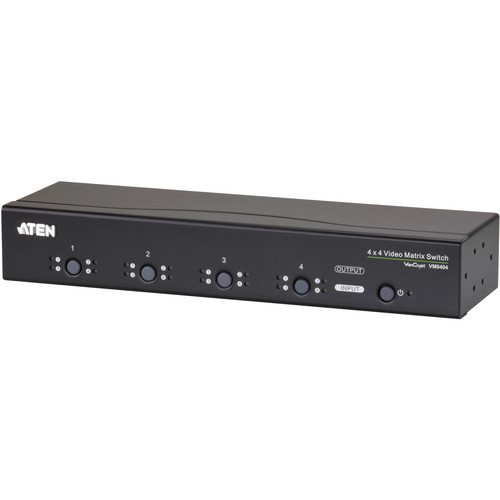 ATEN VM0404 4 x 4 Video Matrix Switch with Audio
