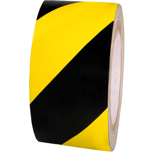"""Atlas Adhesive Tape 6 mil Caution Tape (2"""" x 18 yd, Black and Yellow)"""