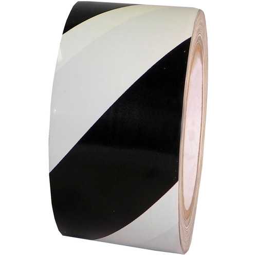 """Atlas Adhesive Tape 7 mil Caution Tape (2"""" x 18 yd, Black and White)"""