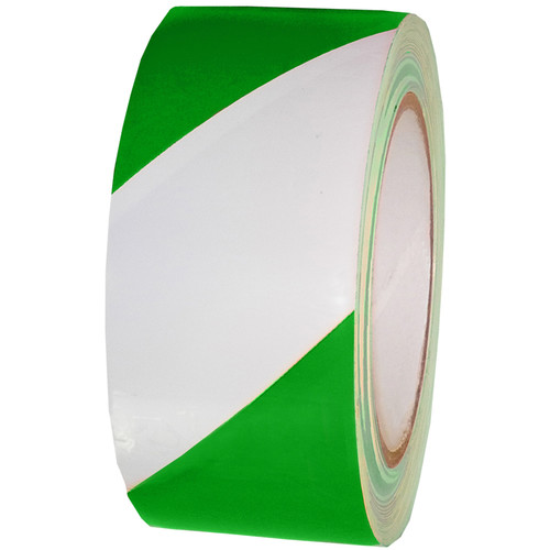 "Atlas Adhesive Tape 7 mil Caution Tape (2"" x 18 yd, Green and White)"