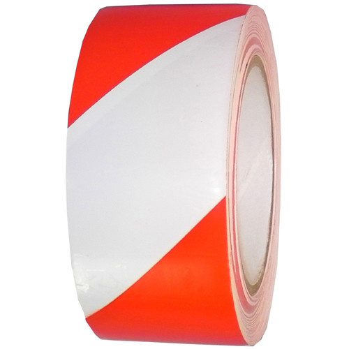 """Atlas Adhesive Tape 7 mil Caution Tape (2"""" x 18 yd, Red and White)"""