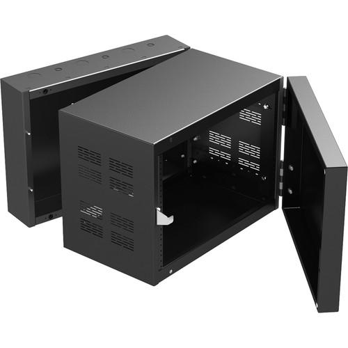 "Atlas Sound 307-12 300 Series Standalone Wall Cabinet Rack (7 RU, 12"" Depth)"