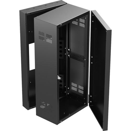 "Atlas Sound 324-12 300 Series Standalone Wall Cabinet Rack (24 RU, 12"" Depth)"