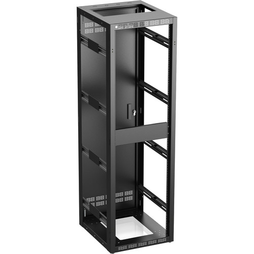 """Atlas Sound 540-25 Stand Alone or Gangable Rack with Perforated Rear Door, 25"""" Depth (40 RU)"""