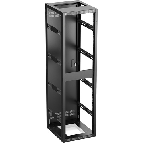 "Atlas Sound 544-25 Stand Alone or Gangable Rack with Perforated Rear Door, 25"" Depth (44 RU)"