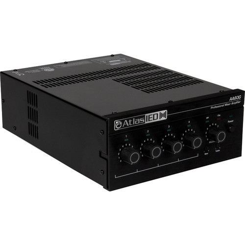 Atlas Sound AA60G 4-Input 60W Mixer Amplifier with Global Power Supply