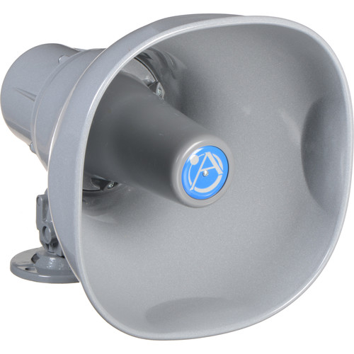 Atlas Sound AP-15T Horn Loudspeaker with 25/70.7/100V-15W Transformer (Gray)