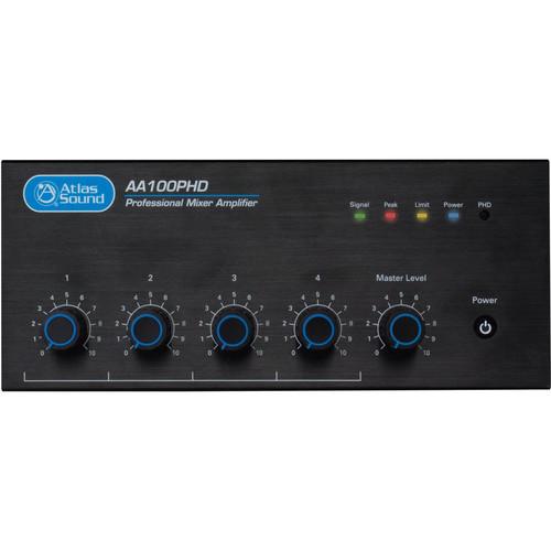 Atlas Sound AA100PHD 4-Input 100W BGM Mixer Amplifier