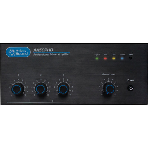 Atlas Sound Atlas Sound AA50PHD-CE 4-Input 50W BGM Mixer Amplifier with CE Certification