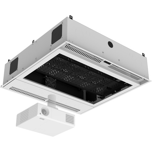 Atlas Sound 2x2 Ceil-Mount 2RU,STD-Width, Ambitilt Shelf/Integrated Switched Power Pack/Projector Pole Mount