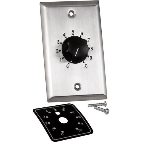 Atlas Sound Precision Plate with Mounted Attenuator (100W, 1.5 dB Steps)