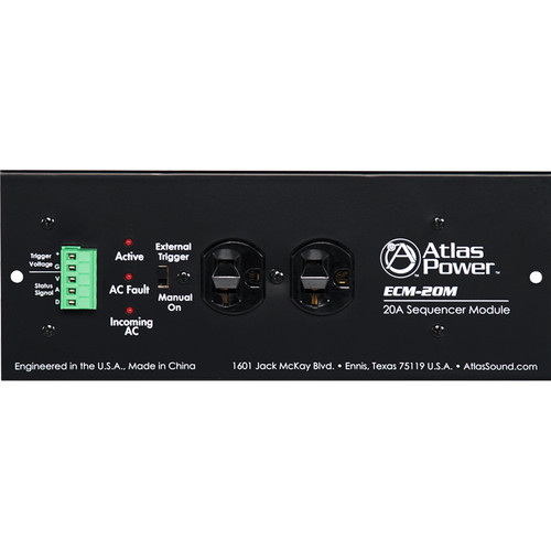 Atlas Sound 20A AC Power Conditioner and Spike Suppressor with Noise Filtering
