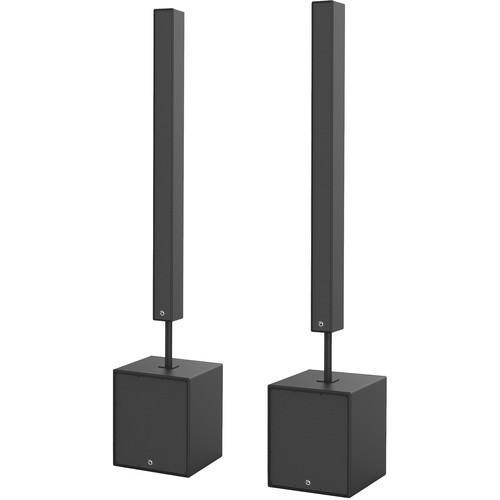 Atlas Sound Active Line-Array Speaker System Kit w/2-EJ2003-B/1- EJW115A-B,1-EJW115X-B (Black)