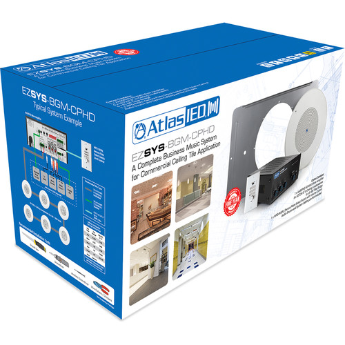 Atlas Sound Easy System BGM Kit : SD72W, AA50PHD, 81-8R, WPD-RISL