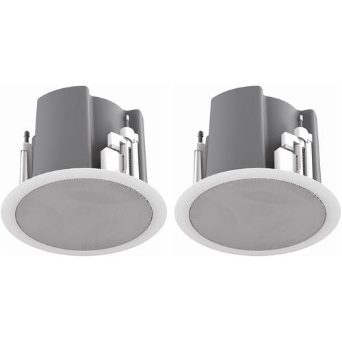 """Atlas Sound FAP43T-W Strategy III Series 4.5"""" 70.7/100V-32W Ceiling Loudspeaker (White)"""