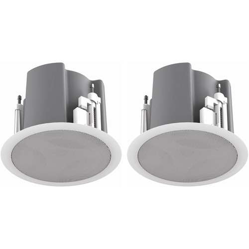 "Atlas Sound FAP43T-W Strategy III Series 4.5"" 70.7/100V-32W Ceiling Loudspeaker (Pair, White)"