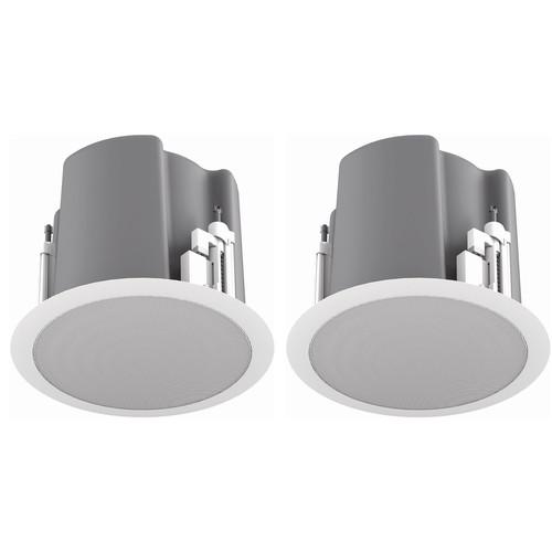 "Atlas Sound FAP63T-W Strategy III Series 6.5"" 70.7/100V-32W Ceiling Loudspeaker (Pair, White)"