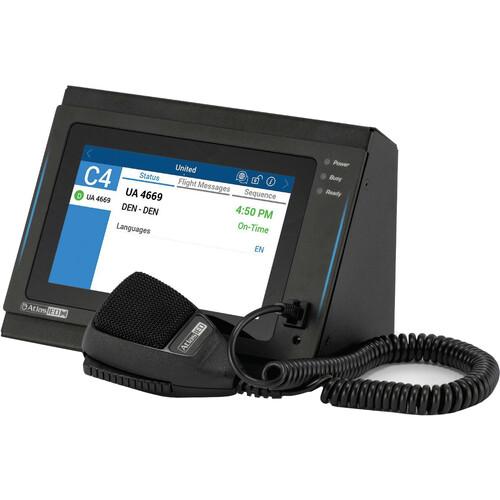 Atlas Sound Globalcom Flush Mount Dante Digital Communication Station with Hand Held Mic