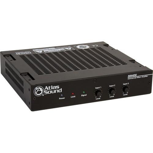 Atlas Sound MA40G 40W 3-Channel Mixer Amplifier