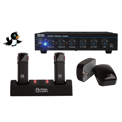 Atlas Sound MAGPIE2-2 Atlas Learn Dual Magpie Wireless Microphone System