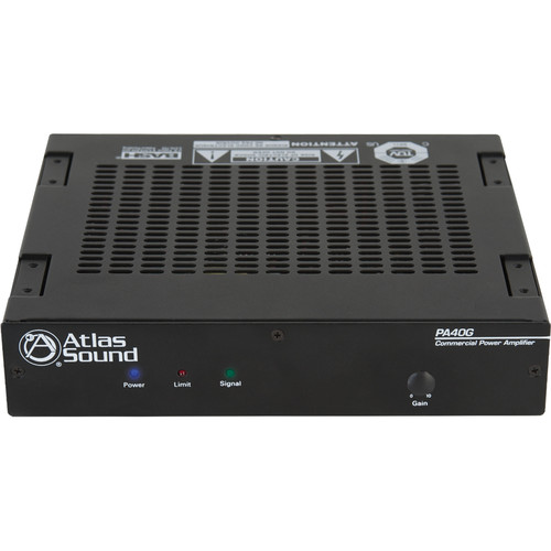 Atlas Sound PA40G 40W Single-Channel Power Amplifier with Global Power Supply