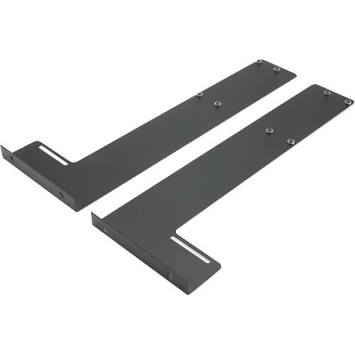 Atlas Sound 3 Rack Unit Rear Rack Rail Support Brackets for SH Series Rack Shelves