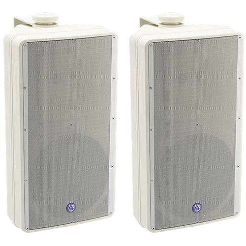 Atlas Sound SM82T SM Series 2-Way Weather-Resistant Speaker System (Pair, White)