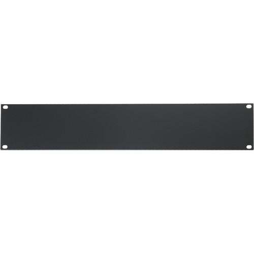 "Atlas Sound 19"" Blank 2 Rack Unit Recessed Rack Panel"