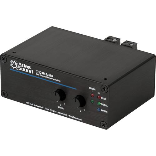 Atlas Sound Time Saving Devices TSD-PA122G 12W 2-Channel Power Amplifier (Black)