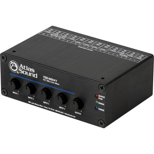 Atlas Sound TSD-MIX41 4x1 Mic/Line Mixer