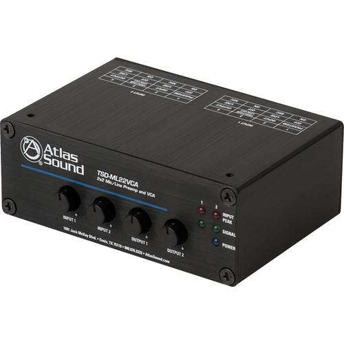 Atlas Sound TSD-ML22VCA 2x2 Mic/Line Preamplifier and VCA