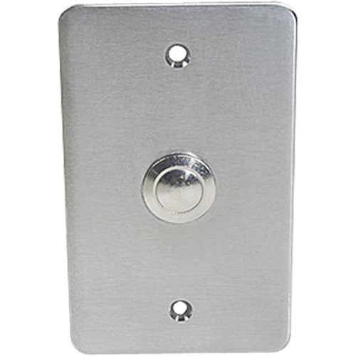 Atlas Sound Vandal-Resistant Intercom Push Switch on Single-Gang Steel Plate