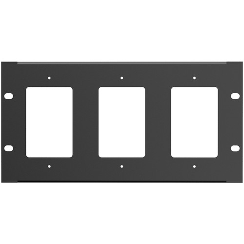 Atlas Sound Half-Width Rackmount Plate (Holds 3 Single-Gang Wall Plates)