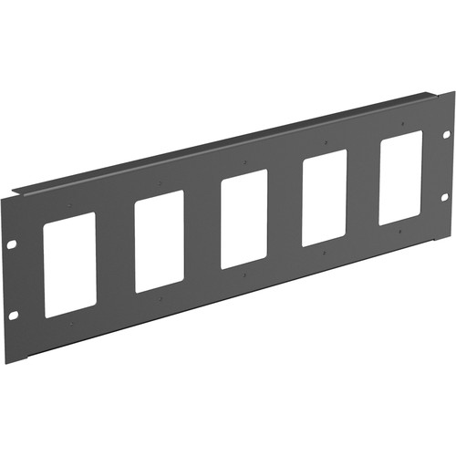 Atlas Sound Full-Width Rackmount Plate (Holds 5 Single-Gang Wall Plates)