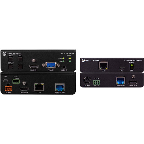 Atlona 4K HDMI/VGA over HDBaseT 3x1 Switch Extender Kit (328')