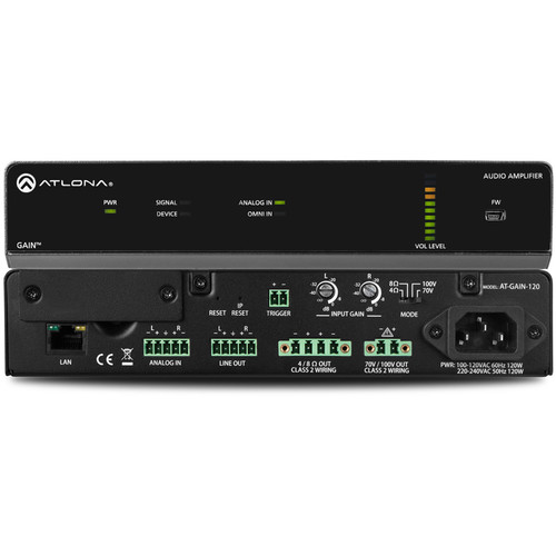 Atlona GAIN-120 Stereo / Mono Power Amplifier