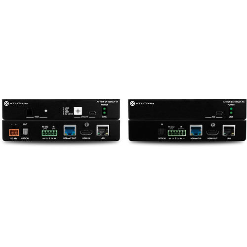 Atlona 4K HDR HDMI HDBaseT Transmitter and Receiver Set with Ethernet, Control, PoE and Return Audio (330')