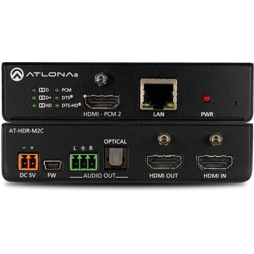 Atlona 4K/UHD HDR Multi-Channel Digital to Two-Channel Audio Converter