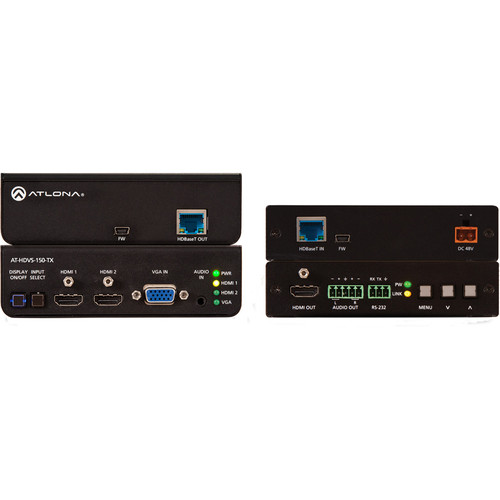 Atlona HDBaseT HDMI/VGA Extender Kit with Three-Input Switcher and Scaler