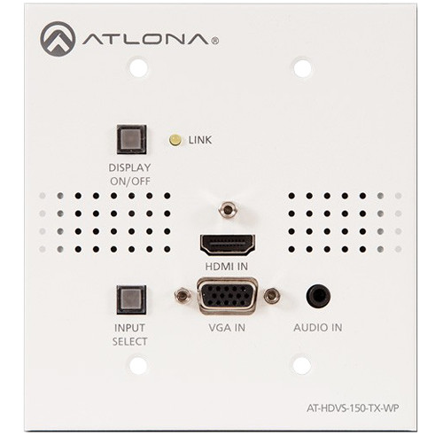 Atlona Two-Input HDMI / VGA to HDBaseT US Wall Plate Switcher