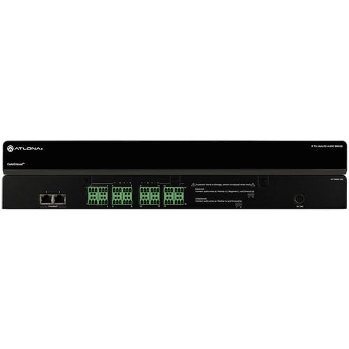 Atlona Eight Stereo Pair OmniStream IP to Analog Audio Bridge