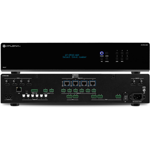 Atlona OPUS 4K HDR 4 x 6 HDMI to HDBaseT Matrix Switcher (2 RU)