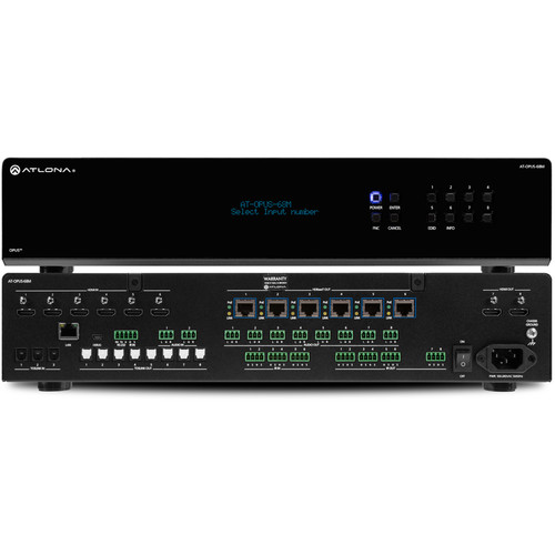 Atlona OPUS 4K HDR 6 x 8 HDMI to HDBaseT Matrix Switcher (2 RU)